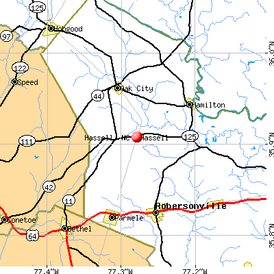 Hassell, NC map