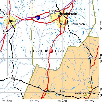 Kittrell, NC map