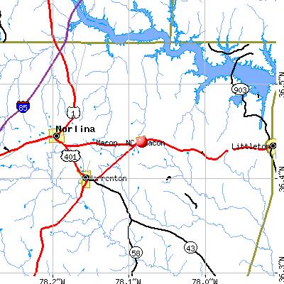 Macon, NC map