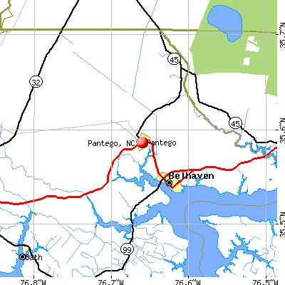 Pantego, NC map