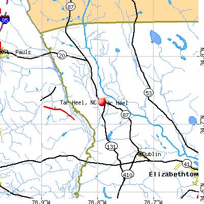 Tar Heel, NC map