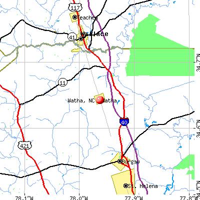Watha, NC mapwatha town