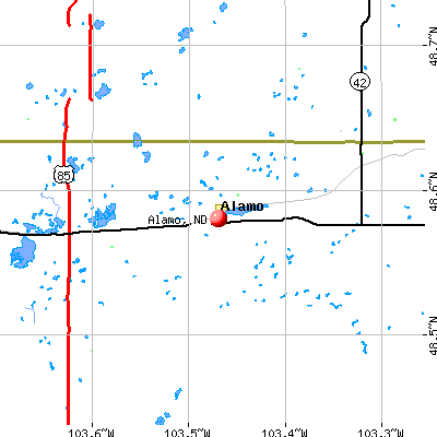 Alamo, ND map