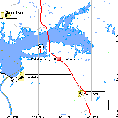 Coleharbor, ND map