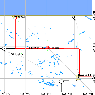 Flaxton, ND map