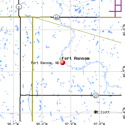 Fort Ransom, ND map