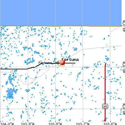Fortuna, ND map