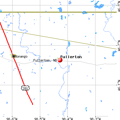 Fullerton, ND map