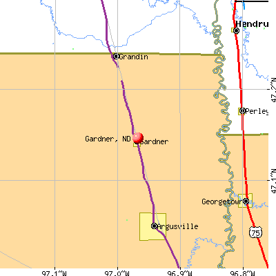 Gardner, ND map