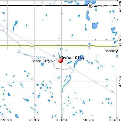 Grace City, ND map