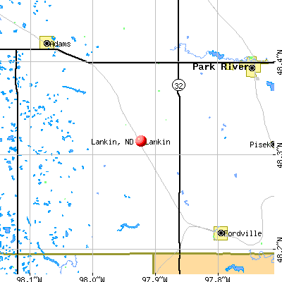 Lankin, ND map