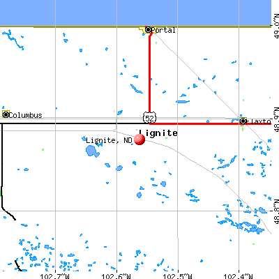 Lignite, ND map