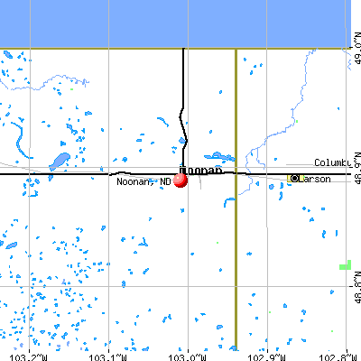 Noonan, ND map