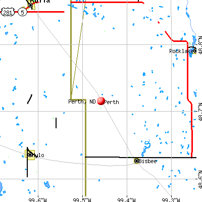 Perth, ND map