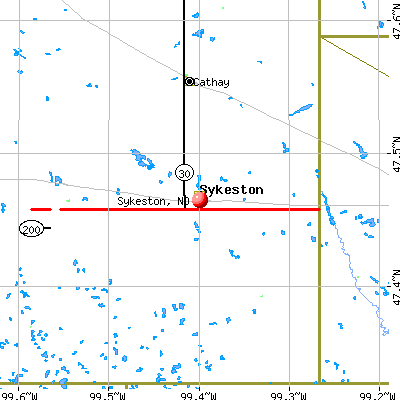 Sykeston, ND map