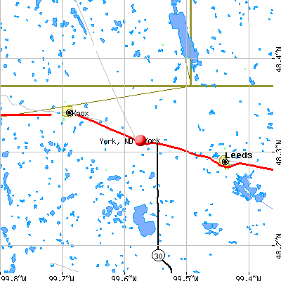 York, ND map