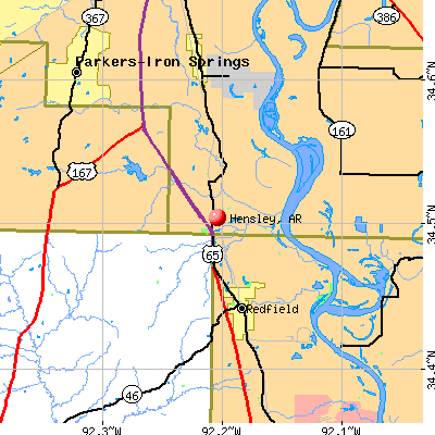 Hensley, AR map