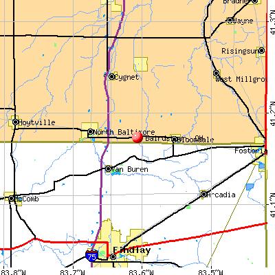 bairdstown  oh map