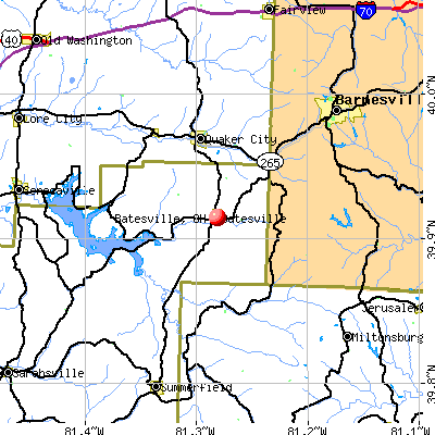 Batesville, OH map