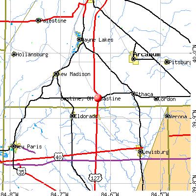 Castine, OH map