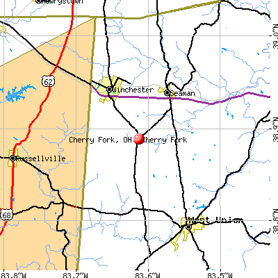 Cherry Fork, OH map