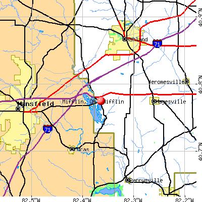 Mifflin, OH map