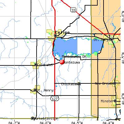 Montezuma, OH map