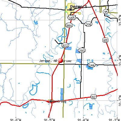 Jerome, AR map