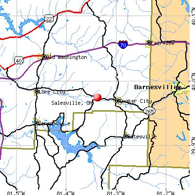 Salesville, OH map