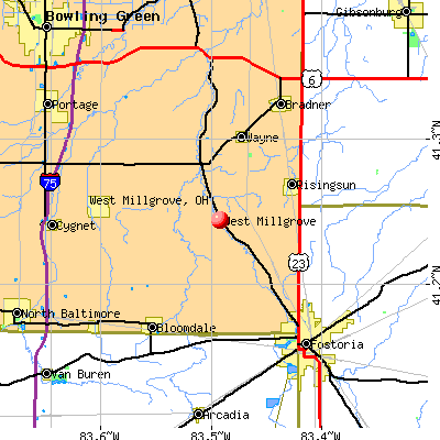 West Millgrove, OH map