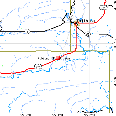 Albion, OK map