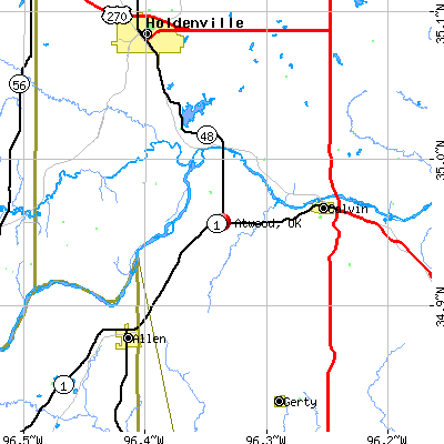 Atwood, OK map