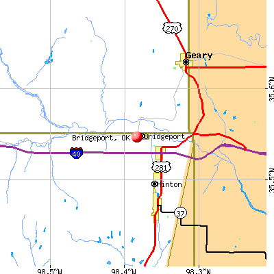 Bridgeport, OK map