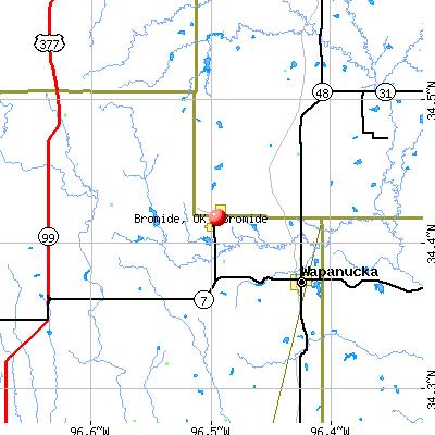 Bromide, OK map