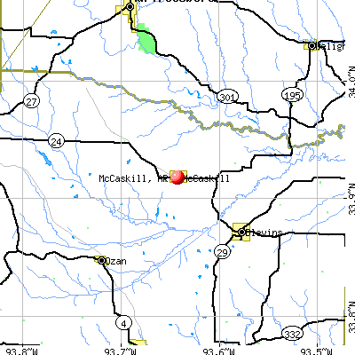 McCaskill, AR map