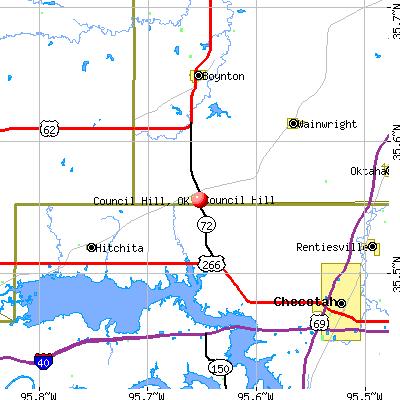 Council Hill, OK map