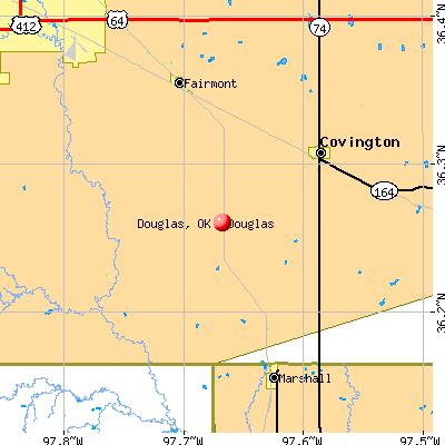 Douglas, OK map