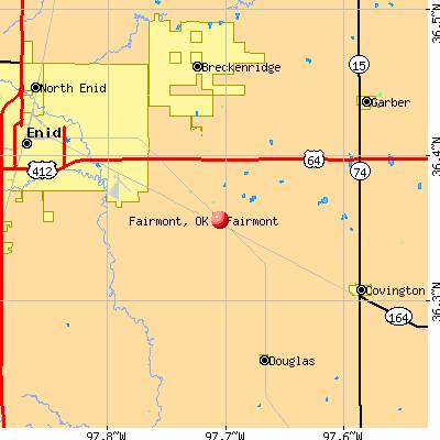 Fairmont, OK map