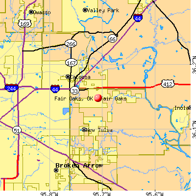 Fair Oaks, OK map
