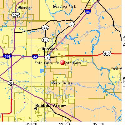 Fair Oaks, OK map