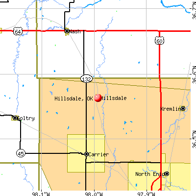 Hillsdale, OK map