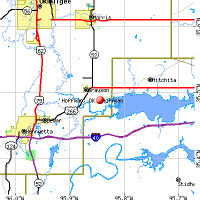 Hoffman, OK map