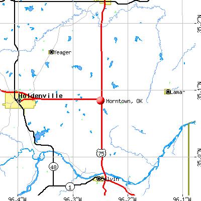 Horntown, OK map
