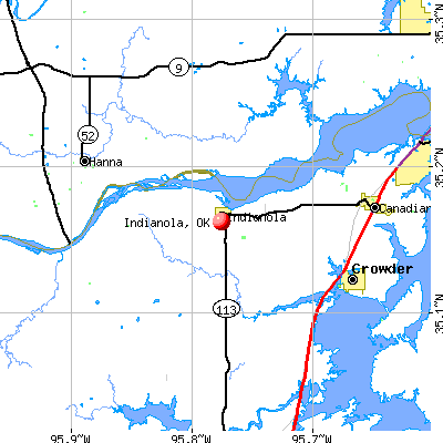 Indianola, OK map