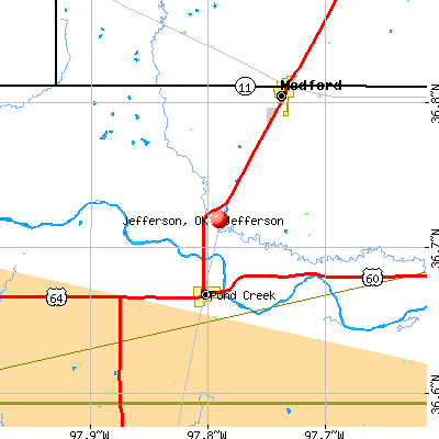 Jefferson, OK map