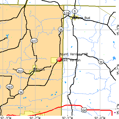 Mount Vernon, AR map