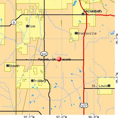 Macomb, OK map