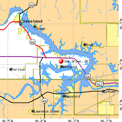 Oak Grove, OK map