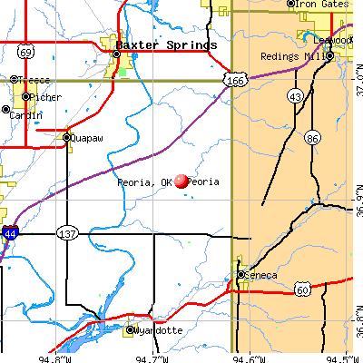 Peoria, OK map