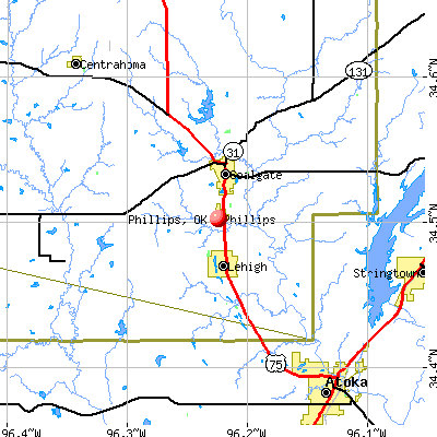 Phillips, OK map